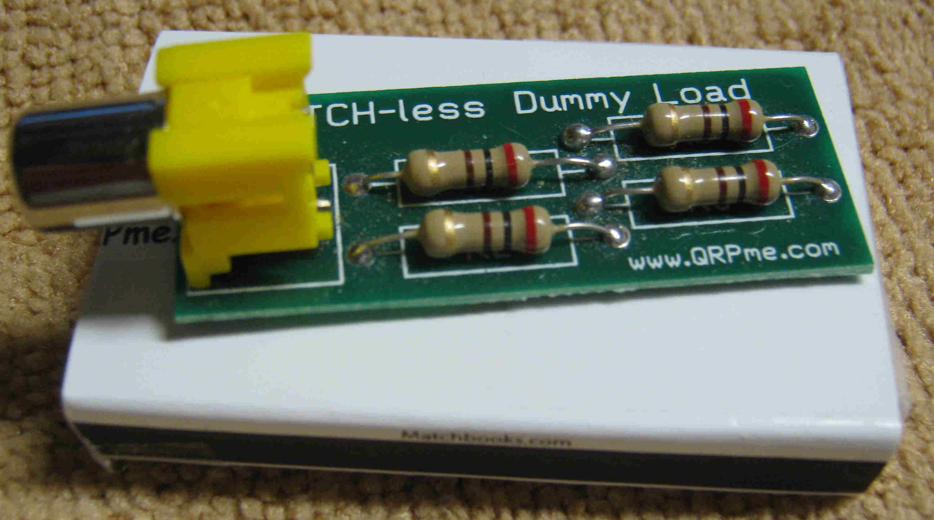 Qrpme Qrp Fun In Cans Boxes And From Scratch Electronic Circuits For Dummies Picture Of Match Less Dummy Load