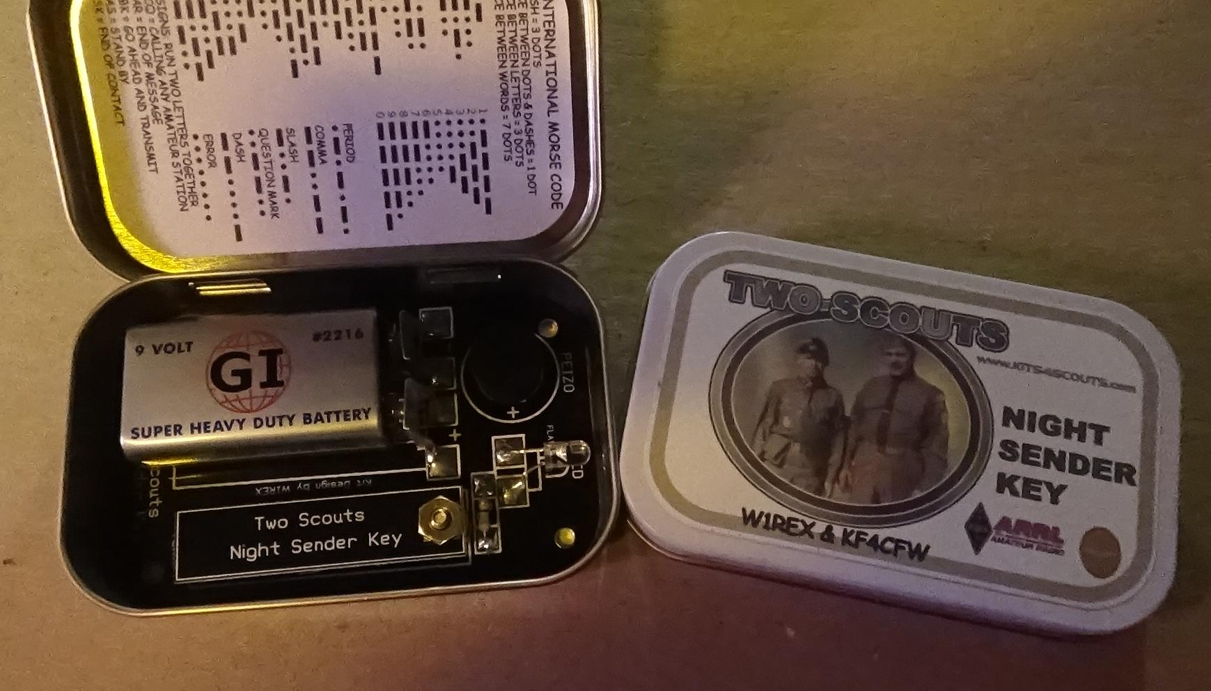Picture of TWO....Two Scouts Night Sender Keys